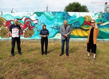 Na ścianie budynku przy ulicy Jaskrowskiej w Częstochowie powstało legalne graffiti