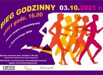 Bieg Godzinny, czyli 10 km we własnym tempie już 3 października. Trenuj z nami - zachęca MOSiR