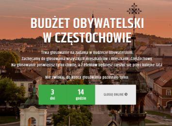Głosujemy do 30 września - w B.O. w Częstochowie ponad 400 zadań czeka na głosy